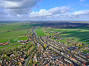 Nederland, Zuid-Holland, Haastrecht, 25-02-2020; Haastrecht en Hollandsche IJssel, Gouda in de achtergrond.<br /> <br /> luchtfoto (toeslag op standard tarieven);<br /> aerial photo (additional fee required)<br /> copyright © 2020 foto/photo Siebe Swart
