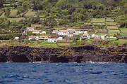 Picturesque seaside village situated in the southern coast of Pico Island, Azores, Portugal, North Atlantic Ocean.
