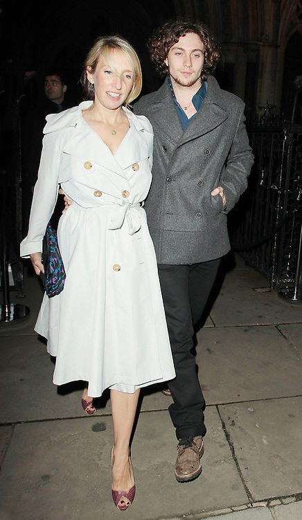 05.SEPTEMBER.2010. LONDON<br /> <br /> SAM TAYLOR-WOOD AND AARON JOHNSON ATTEND A PARTY TO CELEBRATE THE RECIVING OF BRITISH CITIZENSHIP FOR RUSSIAN NEWS PAPER MOGUL ALEXANDER LEBEDEV AT THE ROYAL COURTS OF JUSTICE IN THE STRAND.<br /> <br /> BYLINE: EDBIMAGEARCHIVE.COM<br /> <br /> *THIS IMAGE IS STRICTLY FOR UK NEWSPAPERS AND MAGAZINES ONLY*<br /> *FOR WORLD WIDE SALES AND WEB USE PLEASE CONTACT EDBIMAGEARCHIVE - 0208 954 5968*