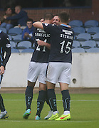 Luka Tankulic and Greg Stewart congratulate Simon Ferry after his opener - Dundee v Peterhead, League Cup at Dens Park<br /> <br />  - &copy; David Young - www.davidyoungphoto.co.uk - email: davidyoungphoto@gmail.com