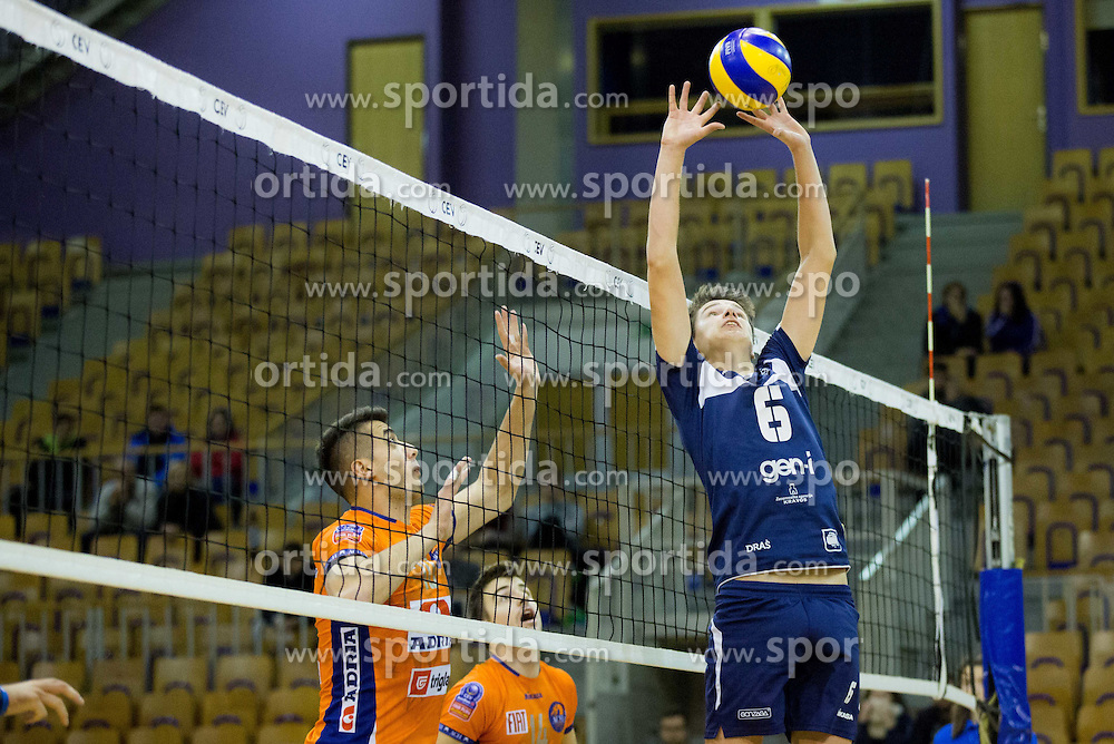 Jani Godnic of Go Volley during volleyball match between ACH Volley Ljubljana and GO Volley Nova Gorica in 11th Round of 1. DOL 2014/15, on November 13, 2014 in Hala Tivoli, Ljubljana, Slovenia. Photo by Vid Ponikvar / Sportida