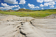 Buttes in Killdeer Badlands.   East Block.<br /> Grasslands National Park<br /> Saskatchewan<br /> Canada