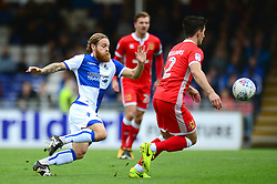 Stuart Sinclair of Bristol Rovers gives chase to George Williams of Milton Keynes Dons - Mandatory by-line: Dougie Allward/JMP - 28/10/2017 - FOOTBALL - Memorial Stadium - Bristol, England - Bristol Rovers v Milton Keynes Dons - Sky Bet League One