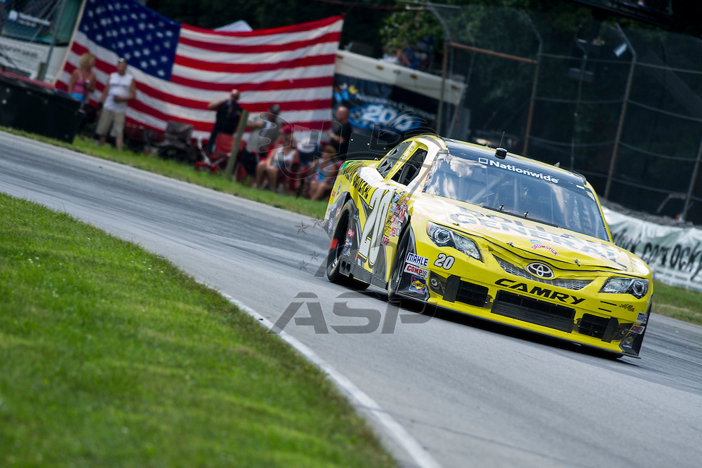 Lexington, OH - AUG 17, 2013: The NASCAR Nationwide Series teams take to the track  for the Nationwide Children's Hospital 200 at Mid-Ohio Sports Car Course in Lexington, OH