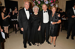 Left to right, LORD & LADY YOUNG and NATIE & FRANCES KIRSCH  at a dinner hosted by the Royal Academy of Dance to present the Queen Elizabeth II Award 2014 held at Claridge's, Brook Street, London on 4th September 2014.