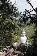 The Rock of Mulkirigala rises about 676 feet from the surrounding land mass. There are seven cave temples situated in five Terraced areas of different altitudes. They are the Lower Terrace (Patha Maluwa), Bo Tree Terrace ( Bodhi Maluwa). Great King's Temple Terrace ( Raja Maha Vihara Maluwa), Upper Bo Tree Terrace (Uda Bodhi Maluwa) and Chetiya Terrace (Chaitya Maluwa). These terraces can be accessed comfortably through well paved granite paths and steps going right upto the Dagoba Terrace.