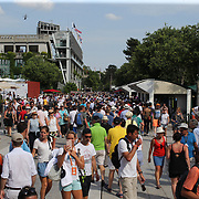 2017 French Open Tennis Tournament - Day One.  Large crowds attending day one of the 2017 French Open Tennis Tournament at Roland Garros on May 28th, 2017 in Paris, France.  (Photo by Tim Clayton/Corbis via Getty Images)