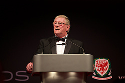 CARDIFF, WALES - Monday, October 5, 2015: FAW President David Griffiths during the FAW Awards Dinner at Cardiff City Hall. (Pic by David Rawcliffe/Propaganda)