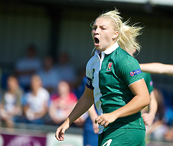 HAVERFORDWEST, WALES - Sunday, August 25, 2013: Wales' captain Lauren Price in action against France during the Group A match of the UEFA Women's Under-19 Championship Wales 2013 tournament at the Bridge Meadow Stadium. (Pic by David Rawcliffe/Propaganda)