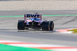 February 18, 2019 - Montmelo, Catalonia, Spain - Sergio Perez of SportPesa Racing Point F1 Team seen in action during the afternoon session of the first day of F1 Test Days in Montmelo circuit. (Credit Image: © Javier MartíNez De La Puente/SOPA Images via ZUMA Wire)