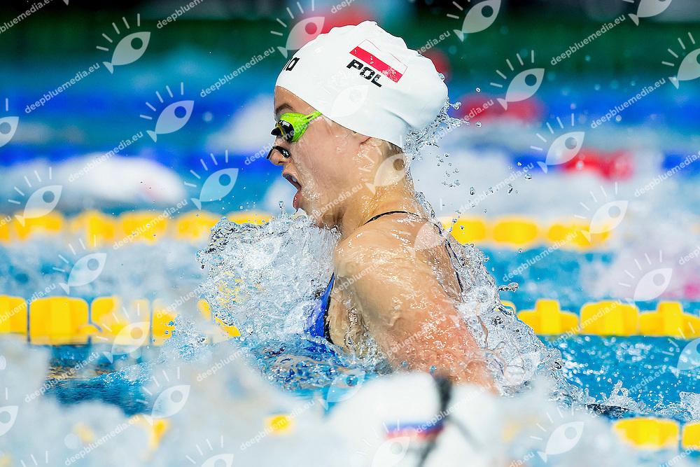 Iwanowska Aleksandra POL<br /> 100 Breaststroke Women Heats <br /> LEN 43rd Arena European Junior Swimming Championships<br /> Hodmezovasarhely, Hungary <br /> Day04 09-07-2016<br /> Photo Andrea Masini/Deepbluemedia/Insidefoto