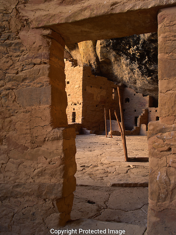 Spruce Tree House door at Mesa Verde CO