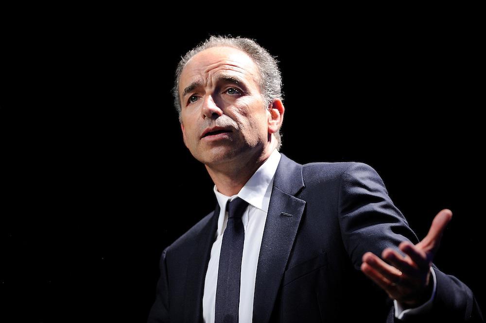 Jean-François Copé Député maire de Meaux et Président de UMP lors du lancement de la campagne d'Alain Lamassoure Député Européen du Sud Ouest pour les élections Européennes, le 07 mai 2014 à Meaux.