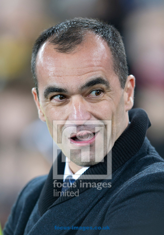 Everton manager Roberto Martinez before the FA Cup match at Goodison Park, Liverpool<br /> Picture by Russell Hart/Focus Images Ltd 07791 688 420<br /> 06/01/2015