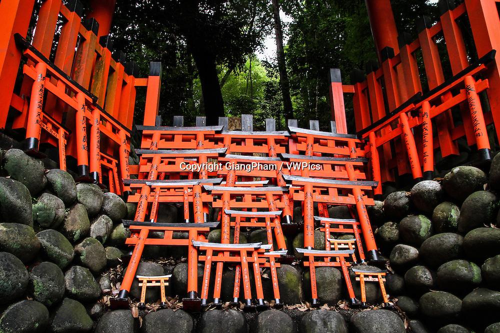 Offerings in Fushimi Inari Shrine in Kyoto Prefectures, Japan