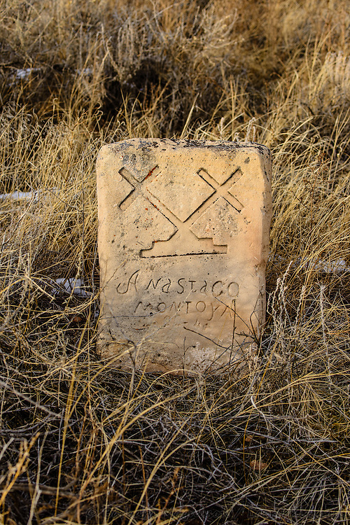 Gravestones at Archuletaville Cemetery, Huerfano County, Colorado