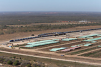 Pipe storage yard at Gardendale Rail Terminal, Cotulla, TX