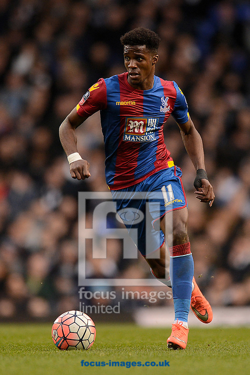 Wilfried Zaha of Crystal Palace during the FA Cup match between Tottenham Hotspur and Crystal Palace at White Hart Lane, London<br /> Picture by Richard Blaxall/Focus Images Ltd +44 7853 364624<br /> 21/02/2016