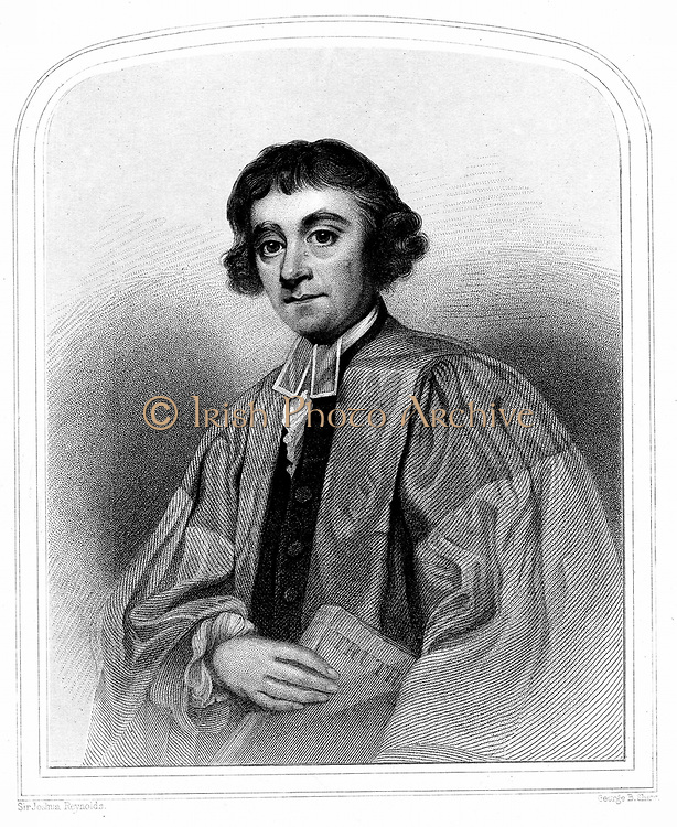 James Beattie (1735-1803) Scottish poet, essayist and schoolmaster, holding his 'Essay on Truth' (1770) attacking David Hume. Now best remembered for long poem 'The Minstrel' (1771-1774). Engraving after portrait by Joshua Reynolds
