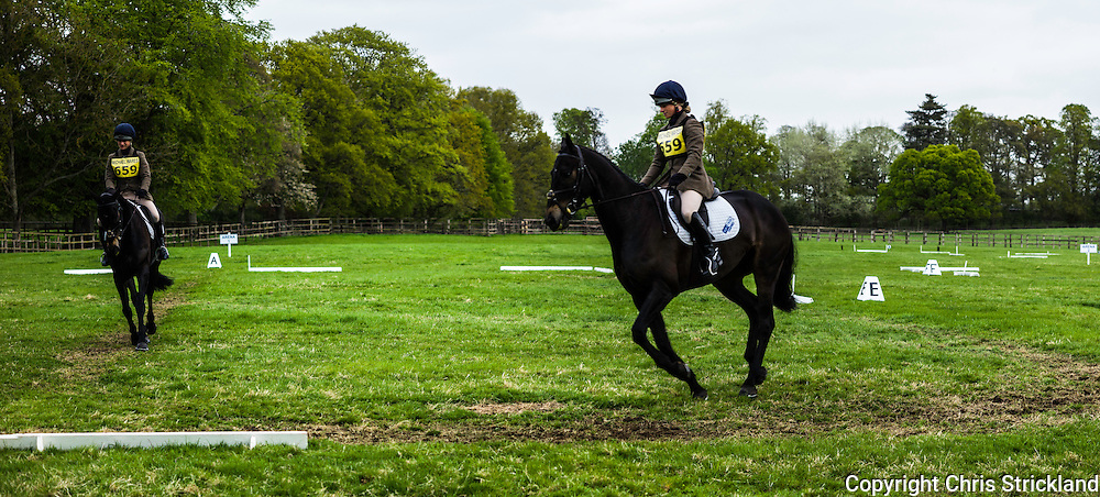 Floors Castle, Kelso, Roxburghshire, UK. 17th May 2015. Four Star eventer Emily Galbraith in action during the Floors Castle International Horse Trials in the parkland of Roxburghe Estate in the Scottish Borders.