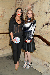 Left to right, ROXIE NAFOUSI and ROSIE FORTESCUE at the Lancôme pre BAFTA party held at The London Edition, 10 Berners Street, London on 14th February 2014.