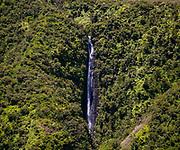 Aerial view of the Waihilau Falls area of the Big Island of Hawaii