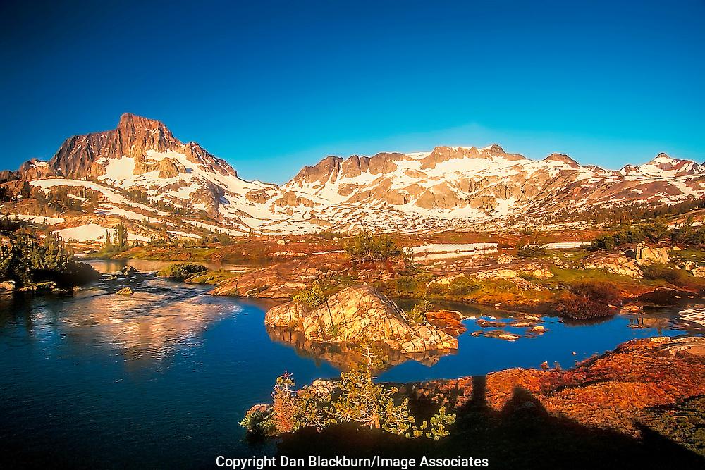 Sunrise on Thousand Island Lake & Mt. Banner Ansel Adams Wilderness Eastern Sierra Nevada California