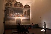 The Last Supper, fresco by Leonardo da Vinci at Church of Samta Maria delle Grazie in Milan, 2017. &copy; Carlo Cerchioli<br /> <br /> Ultima cena, affresco di Leonardo da Vinci alla Chiesa di Santa Maria delle Grazie a Milano 2017.