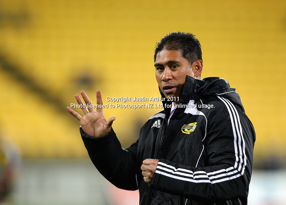 Hurricanes assistant coach Alama Leremia .Super15 rugby union match - Crusaders v Hurricanes at Westpac Stadium, Wellington, New Zealand on Saturday, 18 June 2011. Photo: Justin Arthur / photosport.co.nz