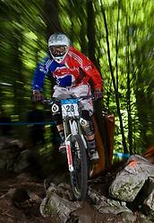 Tom Deacon (GBR) of Elite Men category at MTB Downhill European Championships, on June 14, 2009, at Kranjska Gora, Slovenia. (Photo by Vid Ponikvar / Sportida)