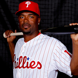 February 22, 2011; Clearwater, FL, USA; Philadelphia Phillies shortstop Jimmy Rollins (11) poses during photo day at Bright House Networks Field. Mandatory Credit: Derick E. Hingle