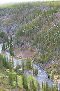 Part of Yellowstone River view from above