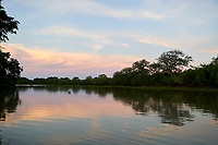 Evening light on Claro River, The Pantanal,  Mato Grosso, Brazil (Photo: Peter Llewellyn)
