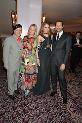Left to right, STEPHEN JONES, ALICE NAYLOR-LEYLAND, AMBER LE BON and PATRICK GRANT at the WGSN Global Fashion Awards 2015 held at The Park Lane Hotel, Piccadilly, London on 14th May 2015.