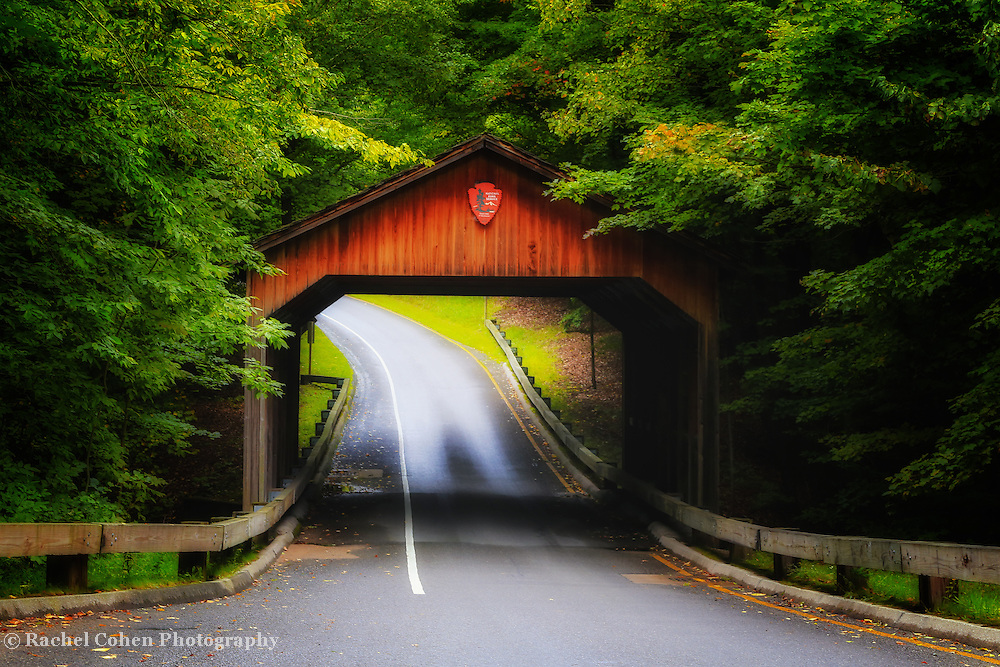 &quot;Through the Covered Bridge&quot;<br /> <br /> A magical view of the covered bridge and forest on Pierce Stocking Scenic Drive within Sleeping Bear Dunes National Lake Shore.