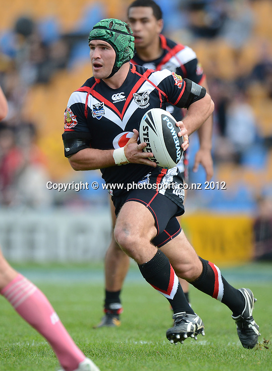 Nathan Friend during the NRL Rugby League match, Vodafone Warriors v Penrith Panthers at Mt Smart Stadium, Auckland, New Zealand on Sunday 19 August 2012. Photo: Andrew Cornaga/photosport.co.nz
