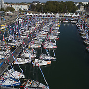 village de la Mini Transat la BOULANGERE 2019 dans le bassin des chalutiers à La Rochelle