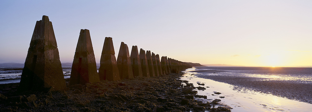 War time sea defences at Cramond - Edinburgh