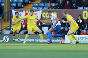 AFC Wimbledon midfielder Jake Reeves (8) battles for possession during The Emirates FA Cup 1st Round match between Bury and AFC Wimbledon at the JD Stadium, Bury, England on 5 November 2016. Photo by Stuart Butcher.