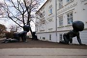 Babies statue by David Cerny at the Kampa Museum, Prague, Czech Republic