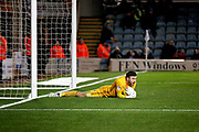 Bradford City goalkeeper Richard O'Donnell (1)  with yet another save during the EFL Sky Bet League 1 match between Peterborough United and Bradford City at The Abax Stadium, Peterborough, England on 17 November 2018.