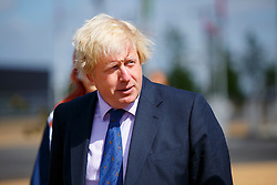 © Licensed to London News Pictures. 26/05/2015. London, UK. The Mayor of London, Boris Johnson arriving at the new Mandeville Place Orchard in Queen Elizabeth Olympic Park on Tuesday 26 May 2015 to mark London Tree Week. Photo credit : Tolga Akmen/LNP