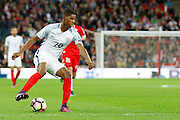 England Forward Marcus Rashford looks for options during the FIFA World Cup Qualifier match between England and Malta at Wembley Stadium, London, England on 8 October 2016. Photo by Andy Walter.