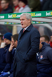 STOKE-ON-TRENT, ENGLAND - Sunday, January 4, 2015: Stoke City's manager Mark Hughes before the FA Cup 3rd Round match against Wrexham at the Britannia Stadium. (Pic by David Rawcliffe/Propaganda)