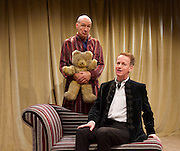 The Green Bay Tree <br /> by Mordaunt Shairp<br /> at the Jermyn Street Theatre, London, Great Britain <br /> press photocall <br /> 26th November 2014 <br /> directed by Tim Luscombe<br /> <br /> <br /> Richard Sterling as Mr Dulcimer<br /> <br /> <br /> <br /> Alister Cameron as Trump <br /> <br /> <br /> Photograph by Elliott Franks <br /> Image licensed to Elliott Franks Photography Services