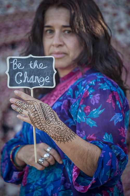 """Social workder Adriana Martinez Chavez at the """"Freedom Matters"""" fund raiser in Calistoga.  """"Women are powerful and deserve respect."""""""