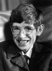 Professor Stephen Hawking, a British theoretical physicist, known for his contributions to the fields of cosmology and quantum gravity, especially in the context of black holes.
