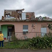 Punta Santiago, PR--Rosa Oquendo, left, lost everything she and her husband owned when the winds ripped the roof and walls off their second story home during Hurricane Maria. They are now staying with their daughter and her partner. FEMA denied their claim for emergency assistance. PHoto by Lori Waselchuk/BRAF
