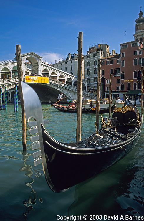 Grand Canal, Rialto Bridge, gondolas, Venice, Italy