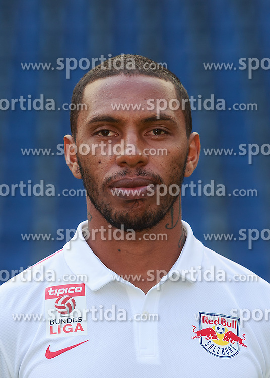 15.07.2015, Red Bull Arena, Salzburg, AUT, 1. FBL, FC Red Bull Salzburg, Fototermin, im Bild Paulo Miranda (FC Red Bull Salzburg) // during the official Team and Portrait Photoshoot of Austrian Bundesliga Club FC Red Bull Salzburg at the Red Bull Arena in Salzburg, Austria on 2015/07/15. EXPA Pictures © 2015, PhotoCredit: EXPA/ JFK
